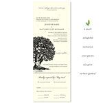 Organic Wedding Invitations - Vieux Oak on cream and black print