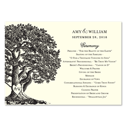 Oak Tree Wedding Programs ~ Vieux Oak