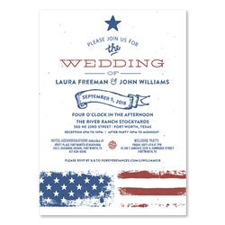 Vintage Americana Wedding Invitations by ForeverFiances Weddings