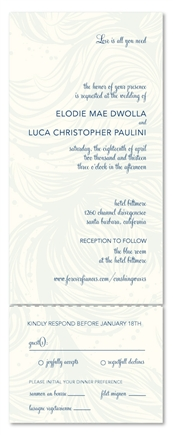 Send n Sealed Wedding Invitations | Water Streams beach theme