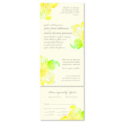Send n Sealed Wedding invitations on 100% Recycled Paper - Watercolor Orchids