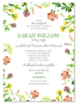 Wildflower Bat Mitzvah Invitations | Wild Blooms