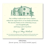 Wine Country Wedding Favors | seeded paper