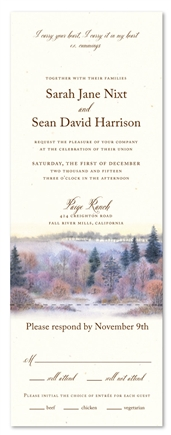 Winter Meadow Wedding Invitations (100% recycled linen paper)