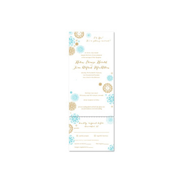 Seal and Send Wedding Invitations - Winter Party