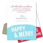 Corporate Holiday Cards ~ Winter Sprinkles by Green Business Print
