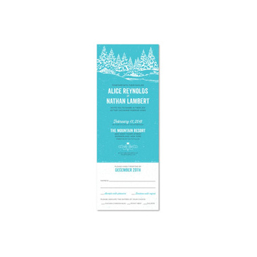 NY Wedding Invitations | Winter In Upstate New York