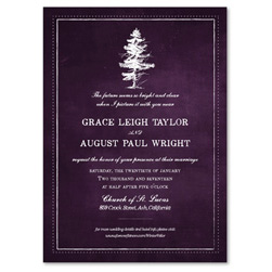 Winter Tree Wedding Invitations Valor