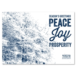 Unique business holiday cards ~ Winter Woods by Green Business Print