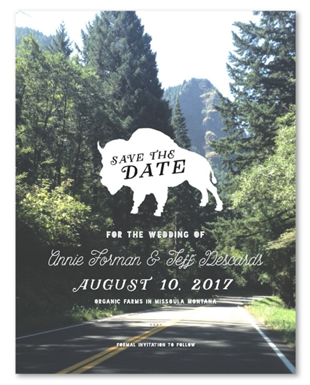 National Park Yellowstone Save the Date cards by ForeverFiances – Save the Date Cards for Weddings