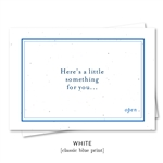 Gift Card Thank you notes on seeded paper - A little Something by Green Business Print