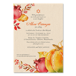 Fall Bat Mitzvah Invitations | Abundant Harvest