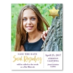Photo Save the Date for Bat Mitzvah | Amazing 13 (100% recycled paper)