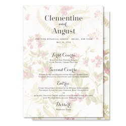Antique Garden Wedding Menus by ForeverFiances Weddings