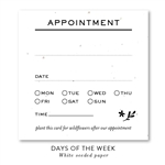 Appointments Cards on Seeded Paper, with days of the week
