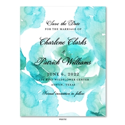 Aqua Mist Beach Wedding Save the Date cards