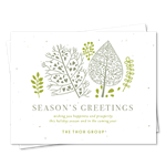 Green Business Holiday Cards | Artistic Green