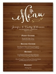 Rustic Bamboo Board Wedding Menus by ForeverFiances Weddings