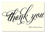 Eco-friendly Thank you cards by Green Business Print