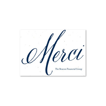 Merci Thank You Notes by Green Business Print
