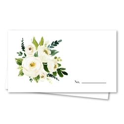 White Roses Wedding Place Cards | Blush Bouquet