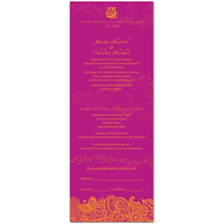 Indian theme Wedding Invitations ~ Bombay (100% recycled paper)