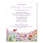 Wildflowers Celebration of Life invitations | Bright & Happy