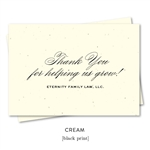 Best Thank you notes to get referrals, popular with realtors and advisors | Elegant Script