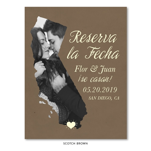 California State Wedding Save the Date | Reserva la Fecha