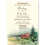 Mountain Cabin Wedding Invitations | Cabin in the Mountains in Colorado