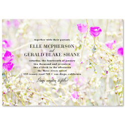 Unique Wedding Invitations - Californian Garden