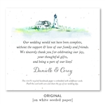 Lighthouse Wedding Favors watercolor and inspired by Cape Cod