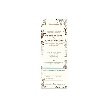 Send n Sealed Invitations ~ Cherished Backyard (100% recycled antique paper)