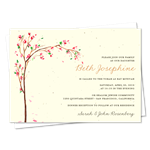 Unique Bat Mitzvah Invitations ~ Cherry Blossoms (seeded)