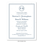 Monogram Wedding Invitations | Classic Monogram *plantable