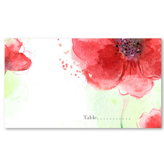 Poppy Wedding Place Cards | Colorado Poppies