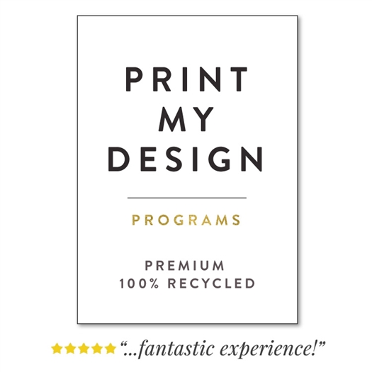 Professional Printing Service on Recycled Paper custom programs for weddings