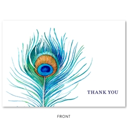 Peacock Feather Thank you cards Greeting by ForeverFiances