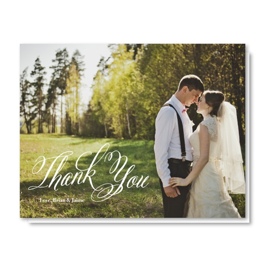 Best Wedding Photo Thank You Card | Devotion (100% recycled paper)