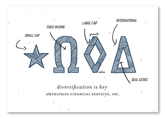 Unique Thank You Cards On Seeded Paper For Financial Agencies