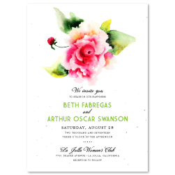 Rose Invitation On Plantable Paper | Divine Rose, Poppy Wedding ...