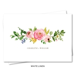 Floral Wedding Thank you notes with pink roses | Elegant Botany