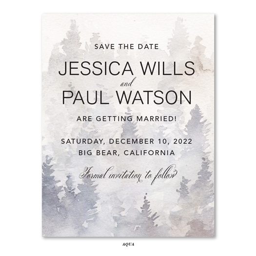 Winter forest Wedding Save the Date Cards | Enchanted Forest
