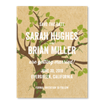 Whimsical Tree Wedding save the date Cards on kraft brown paper | Fairy Woods