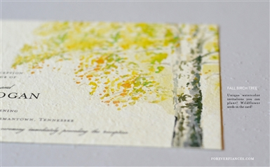 Fall Birch Invitations