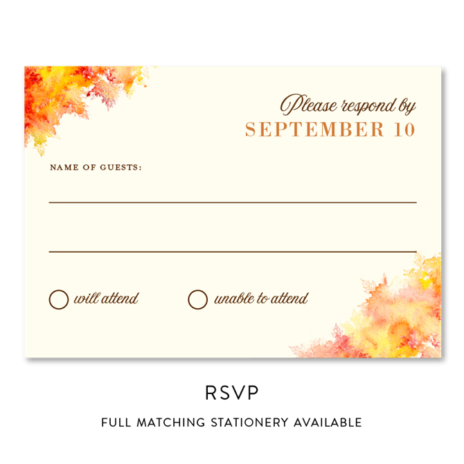 Fall Color Wedding Invitations: Fall Colors By ForeverFiances
