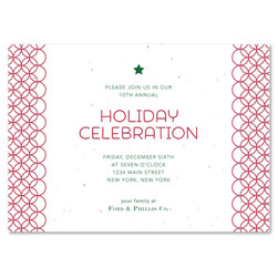 Business Holiday Invitations | Festive Circles