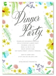 Unique Business Invitations on plantable paper ~ Floral Grace by Green Business Print
