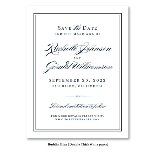 Forever Eco Chic Wedding Save the Date Cards