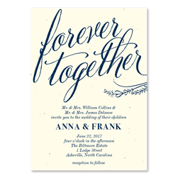 Awesome Gorgeous Wedding Invitations | Forever Together On Cream Premium Paper ...